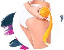 buccia d'arancia con donna