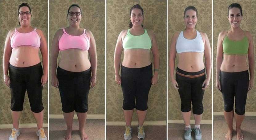 5 donne vestite da ginnastica