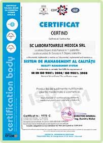 certificato di laboratorio Eco Slim