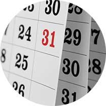 un calendario
