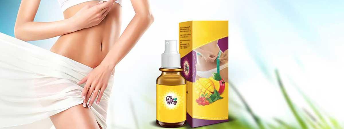 confezione Fito spray vicino al corpo di una donna