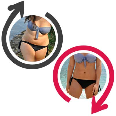 busto di due donne, una magra e una meno magra