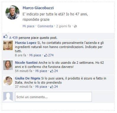 commenti facebook su varicolift
