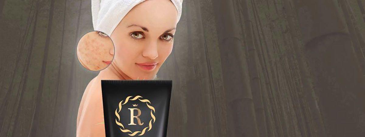 volto di ragazza con una parte della confezione di royal black mask
